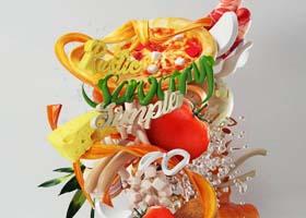 """""""世界美食""""主题3D字体设计欣赏"""