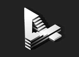 """""""天国的阶梯""""创意立体数字设计"""