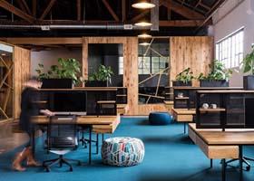 仓库改造的BeFunky公司新办公室