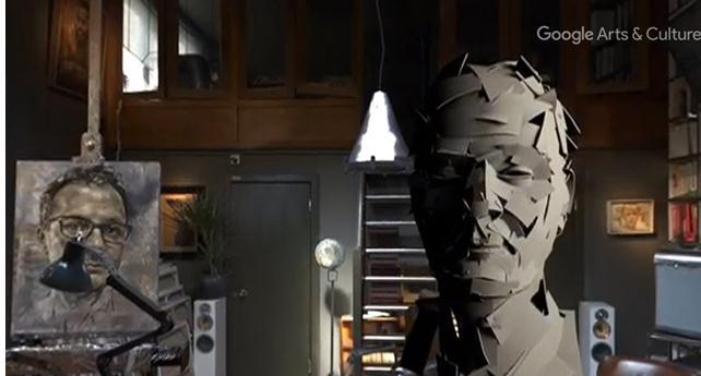 英国肖像画家用Tilt Brush在VR中探索雕塑