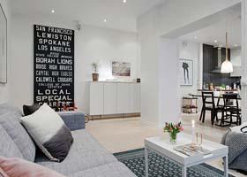 100平米的瑞典纯白风格公寓室内设计欣赏